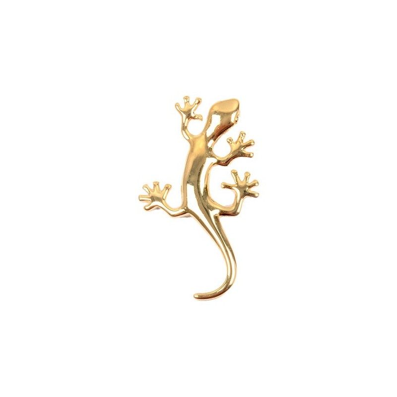 Pendentif salamandre plaqué or - La Petite Française