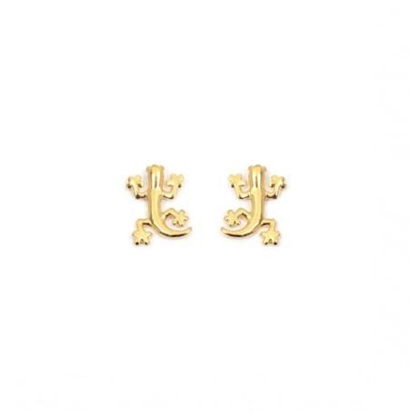 Boucles d'oreilles salamandre plaqué or - La Petite Française