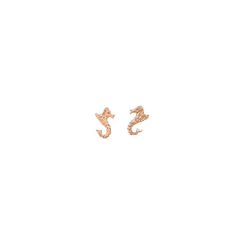 Boucles d'oreilles Hippocampe Or 18 carats rose - La Petite Française