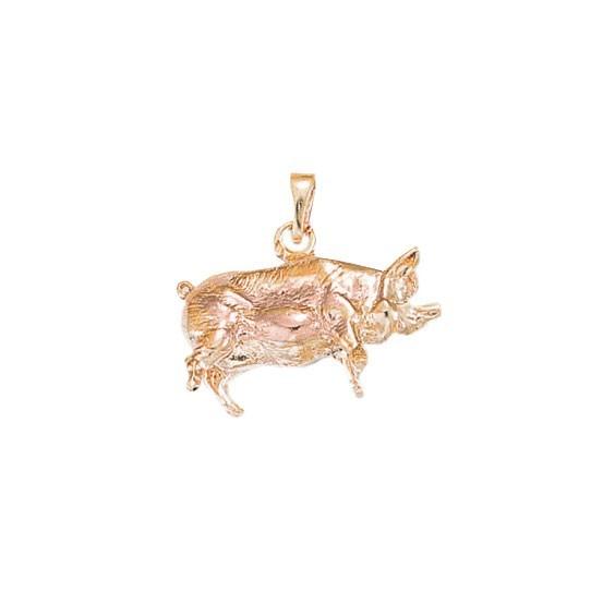 Pendentif cochon Or 18 carats rose - La Petite Française