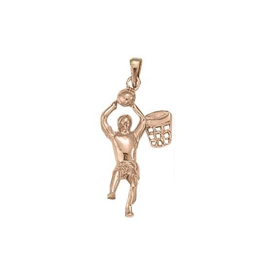 Pendentif Basketteur Or 18 carats rose - La Petite Française