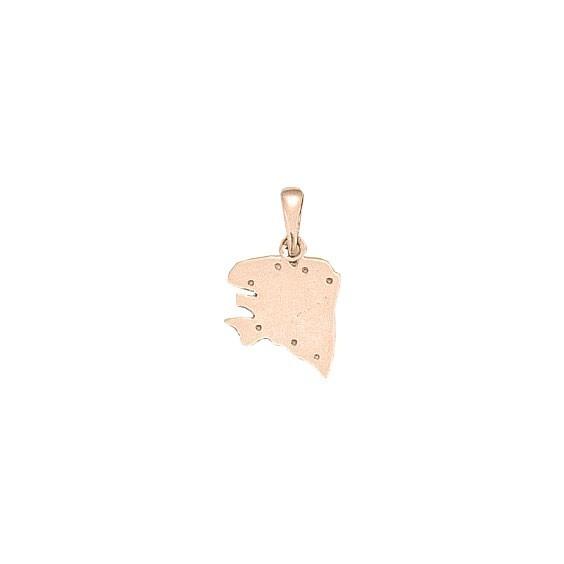 Pendentif carte Bretagne Ancestrale Or 18 carats rose - 22 MM - La Petite Française