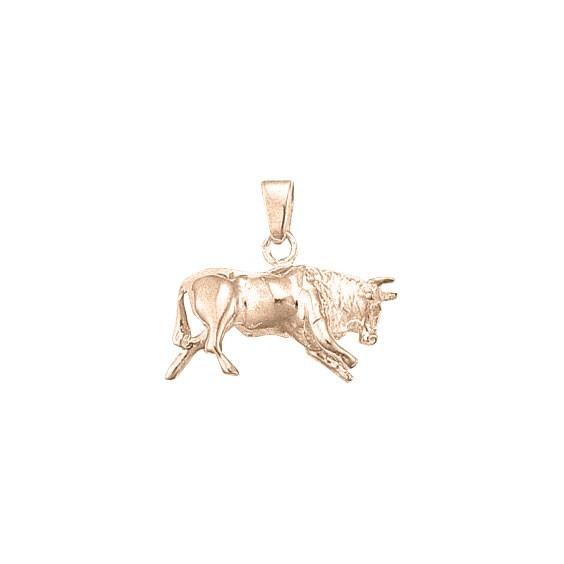 Pendentif taureau Or 18 carats rose- 23 MM - La Petite Française