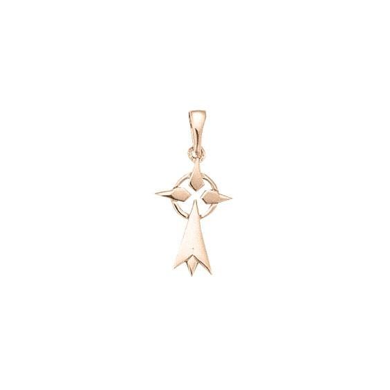 Pendentif hermine Or 18 carats rose - 28 MM - La Petite Française