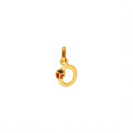 Pendentif coccinelle lettre O Or 18 carats jaune - La Petite Française