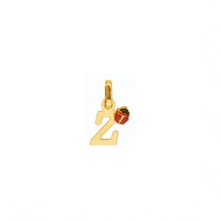 Pendentif coccinelle lettre Z Or 18 carats jaune - La Petite Française