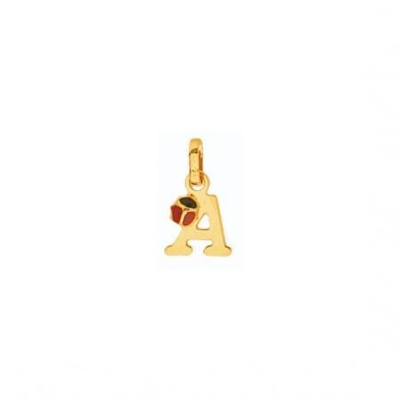 Pendentif coccinelle lettre A Or 18 carats jaune - La Petite Française
