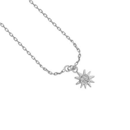 Chaîne cheville soleil argent et zirconium - La Petite Française
