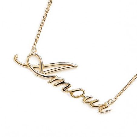 Collier Amour plaqué or