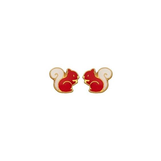 Boucles d'oreilles écureuil or 9 carats jaune