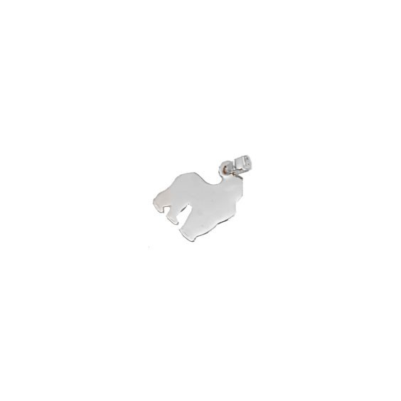 Pendentif gorille Or 18 carats gris - La Petite Française