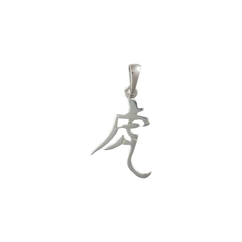 Pendentif signe Chinois tigre Or 9 carats gris - La Petite Française