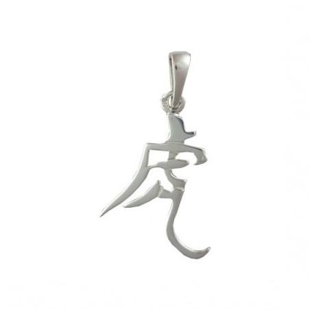 Pendentif signe Chinois tigre Or 14 carats gris - La Petite Française