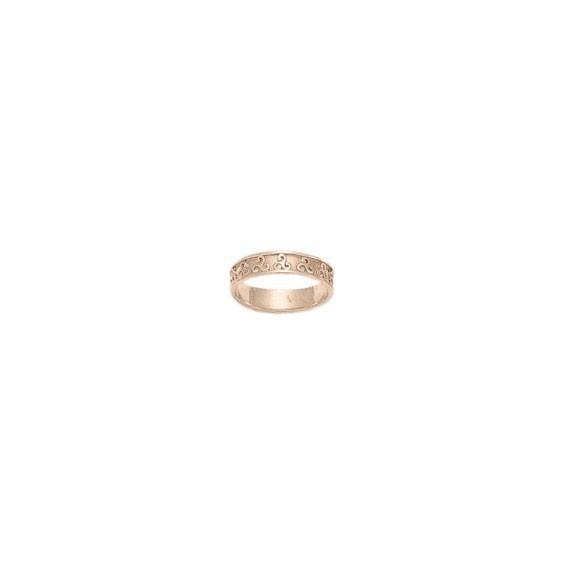 Anneau triskel Or 18 carats rose - 5 MM