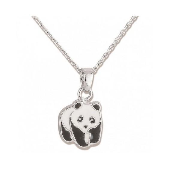 Collier panda argent - La Petite Française