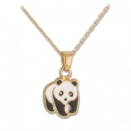 Collier panda plaqué or - La Petite Française