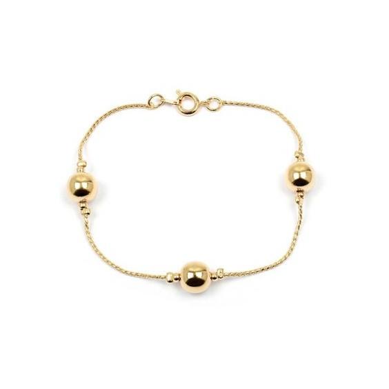 Bracelet boules en plaqué or