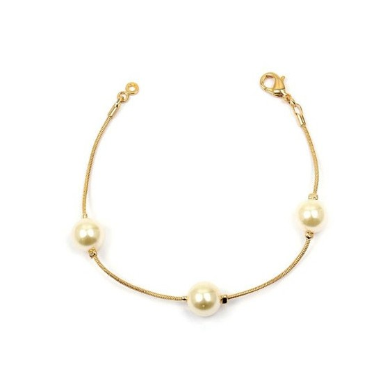 Bracelet perle en plaqué or