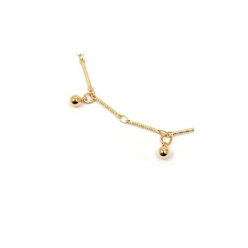 Bracelet breloques boules en plaqué or