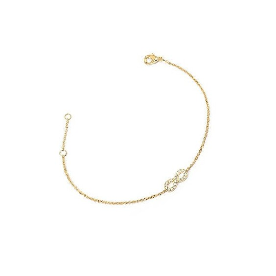 Bracelet infini zirconiums en plaqué or