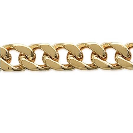 Bracelet identité gourmette plaqué or - 8 mm - La Petite Française