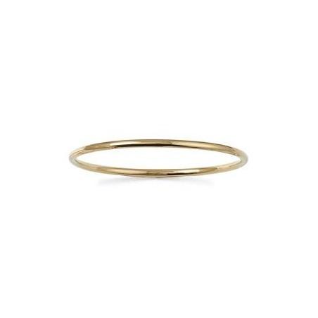 Bracelet jonc plaqué or 1/2  fil rond - 4 MM - 62 MM - La Petite Française