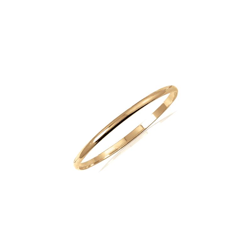 Bracelet jonc plaqué or 1/2 fil rond - 4 MM - 66 MM
