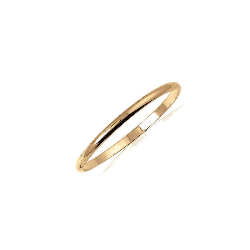Bracelet jonc plaqué or 1/2  fil rond - 5 MM - 62 MM - La Petite Française