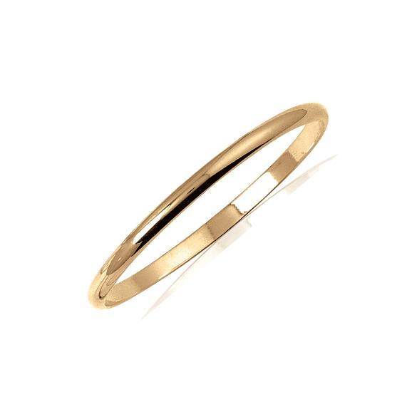 Bracelet jonc plaqué or 1/2 fil rond - 5 MM - 66 MM