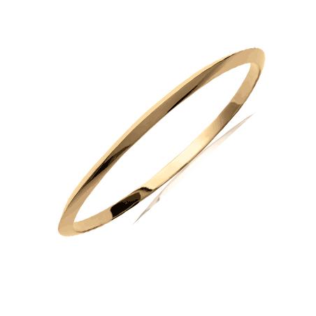 Bracelet jonc plaqué or 1/2  fil triangle - 3 MM - 62 MM