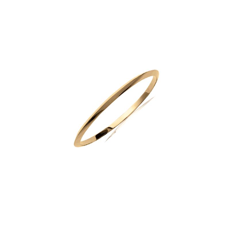 Bracelet jonc plaqué or 1/2 fil triangle - 3 MM - 66 MM - La Petite Française