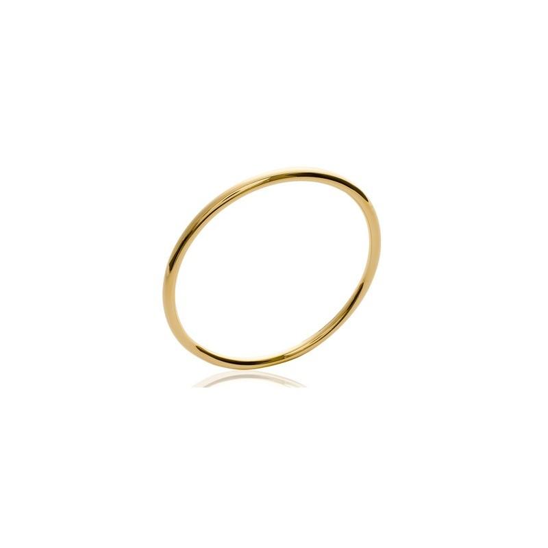 Bracelet jonc plaqué or fil rond - 4 MM - 62 MM - La Petite Française