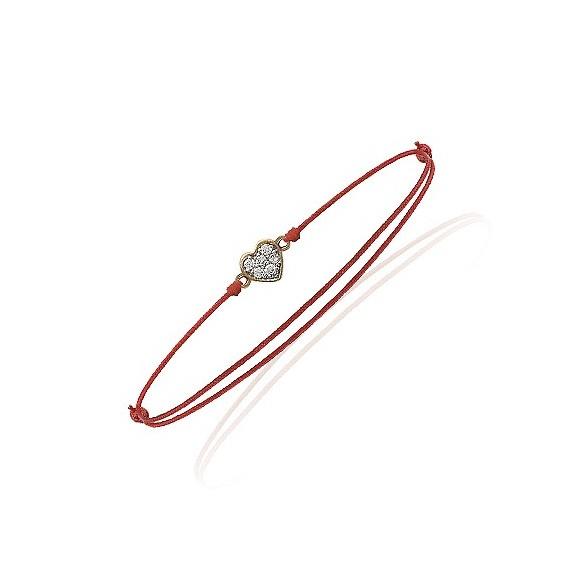 Bracelet coeur plaqué or - La Petite Française