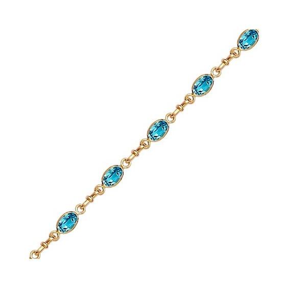 Bracelet topaze Or 18 carats jaune - La Petite Française