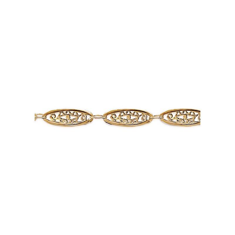 Bracelet filigrane en plaqué or - La Petite Française