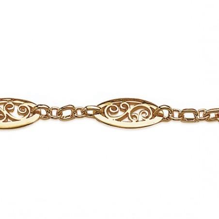 Bracelet filigrane en plaqué or
