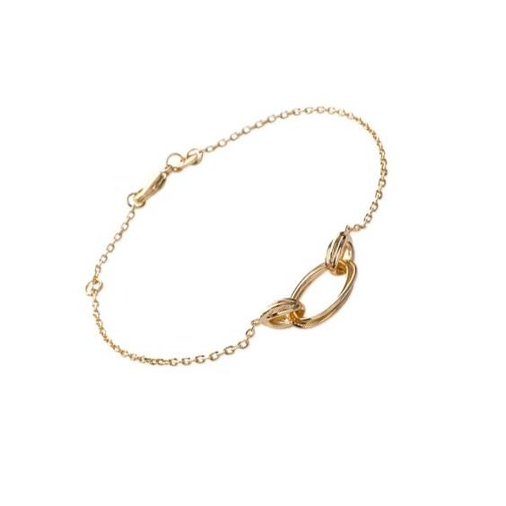 Bracelet multi-ovales en plaqué or - La Petite Française