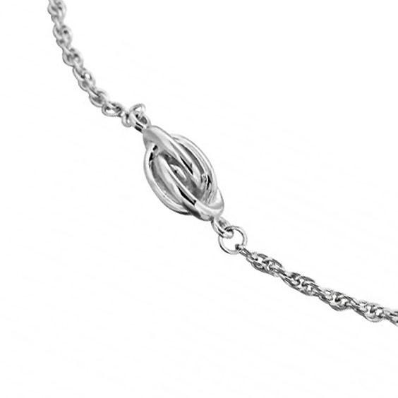 Bracelet noeud Antillais argent - La Petite Française