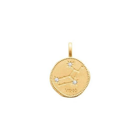 Pendentif constellation vierge plaqué or et zirconiums - La Petite Française