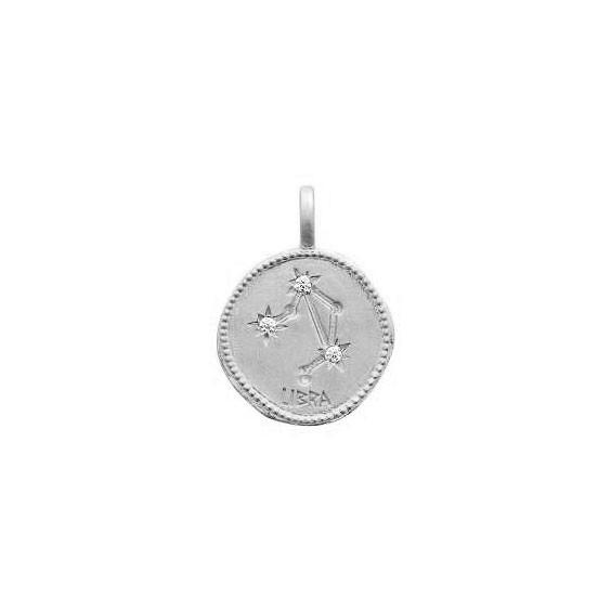 Pendentif constellation balance argent et zirconiums - La Petite Française