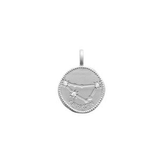 Pendentif constellation capricorne argent et zirconiums - La Petite Française