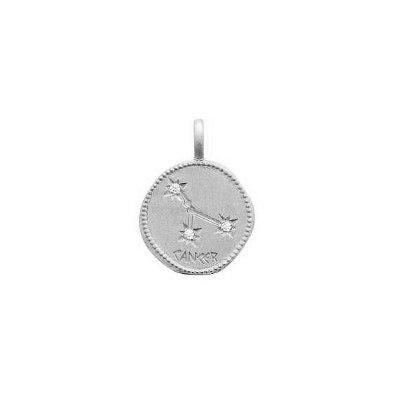 Pendentif constellation cancer argent et zirconiums - La Petite Française