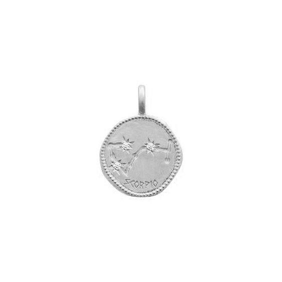 Pendentif constellation scorpion argent et zirconiums - La Petite Française