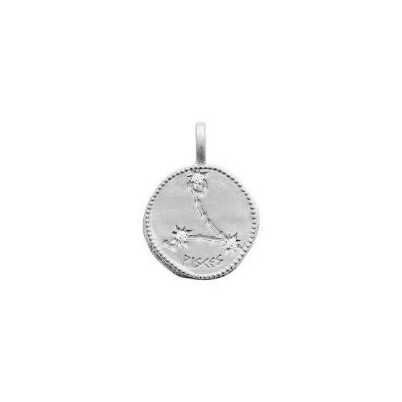 Pendentif constellation poissons argent et zirconiums - La Petite Française