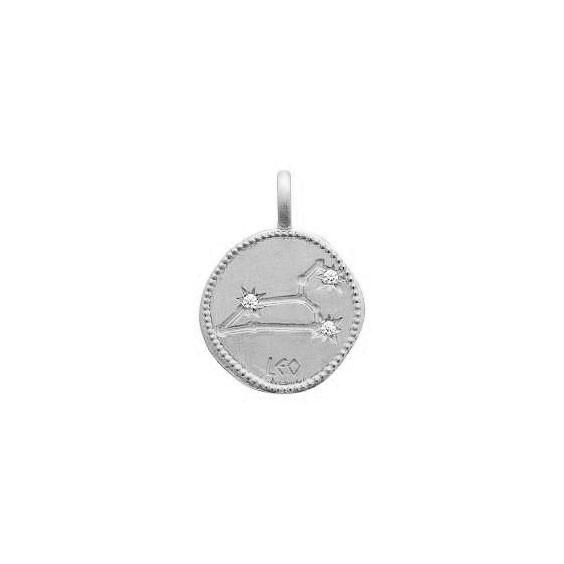 Pendentif constellation lion argent et zirconiums - La Petite Française