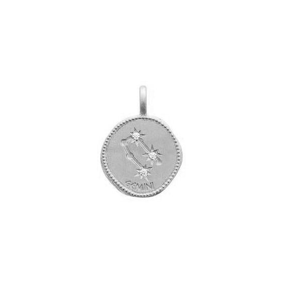 Pendentif constellation gémeaux argent et zirconiums - La Petite Française