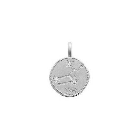 Pendentif constellation vierge argent et zirconiums - La Petite Française