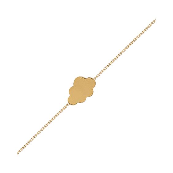 Bracelet nuage plaqué or - La Petite Française