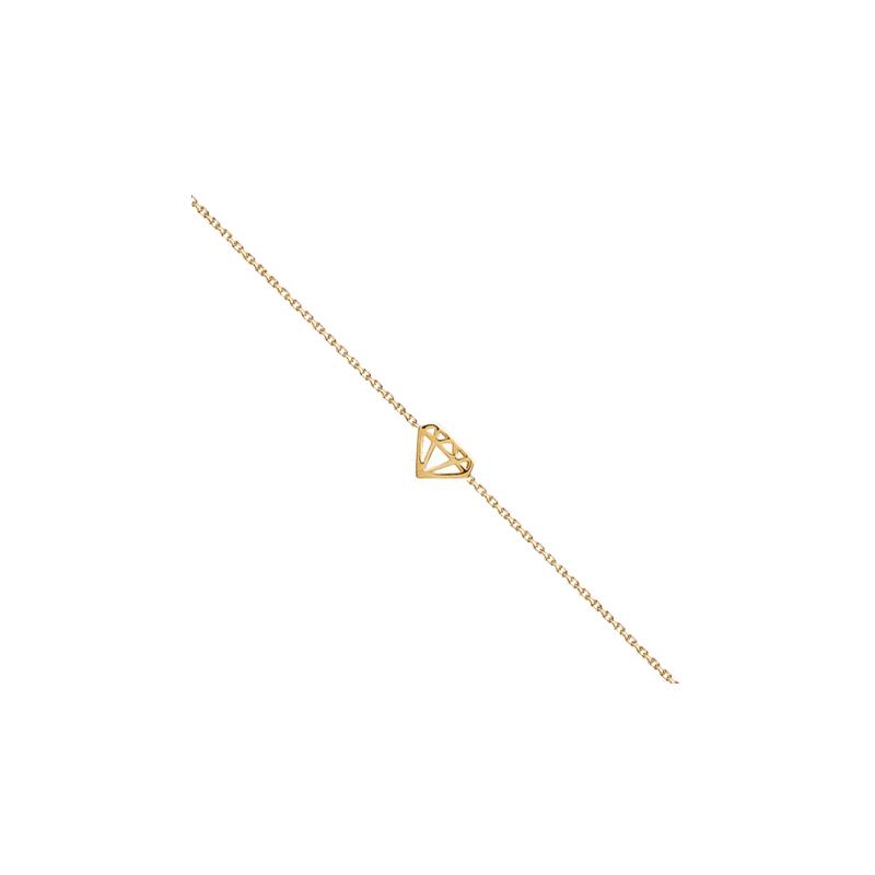 Bracelet diamant découpé plaqué or - La Petite Française