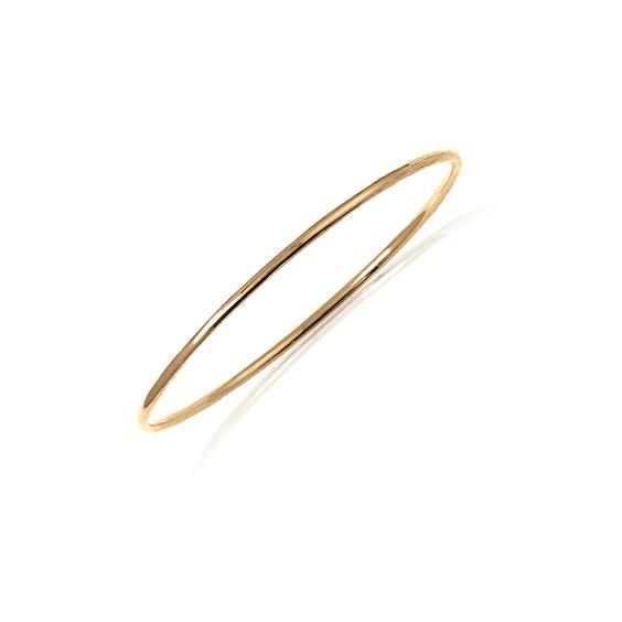 Bracelet jonc plaqué or fil rond - 2 MM - 62 MM - La Petite Française